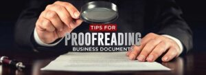 business proofreading